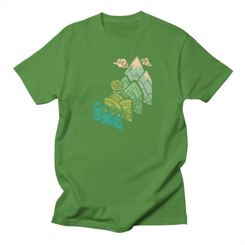 How to Build a Landscape Women's Regular Unisex T-Shirt by Waynem