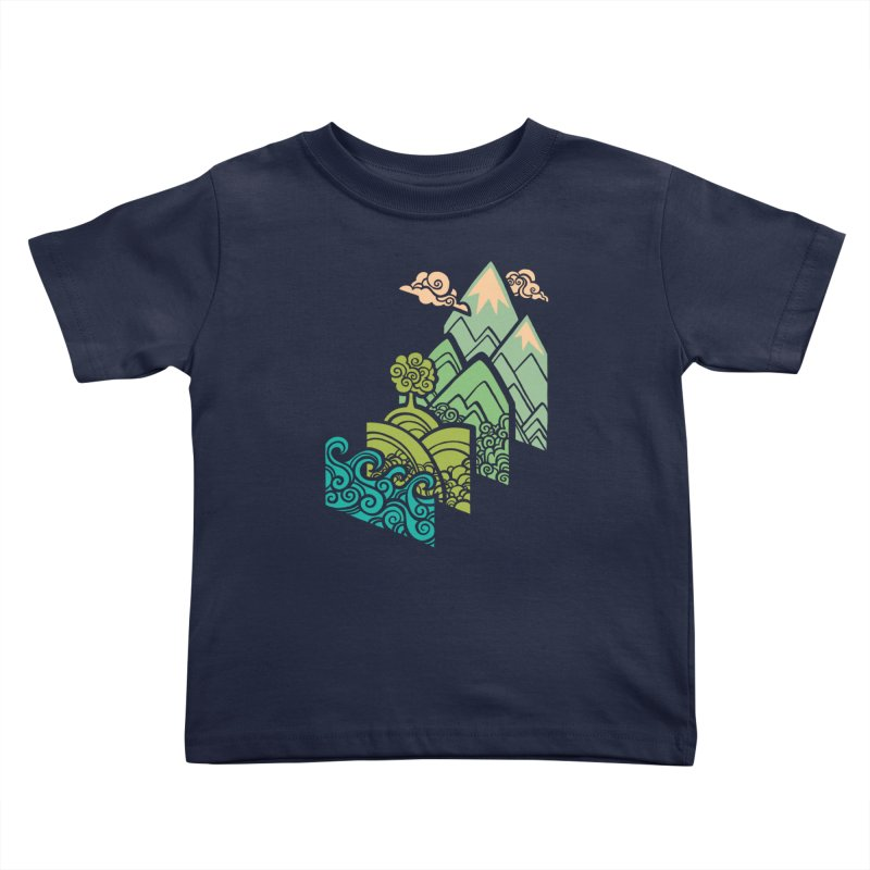 How to Build a Landscape Kids Toddler T-Shirt by Waynem
