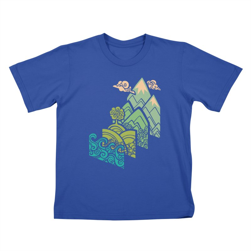 How to Build a Landscape Kids T-Shirt by Waynem