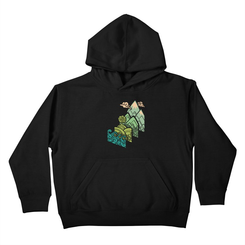 How to Build a Landscape Kids Pullover Hoody by Waynem