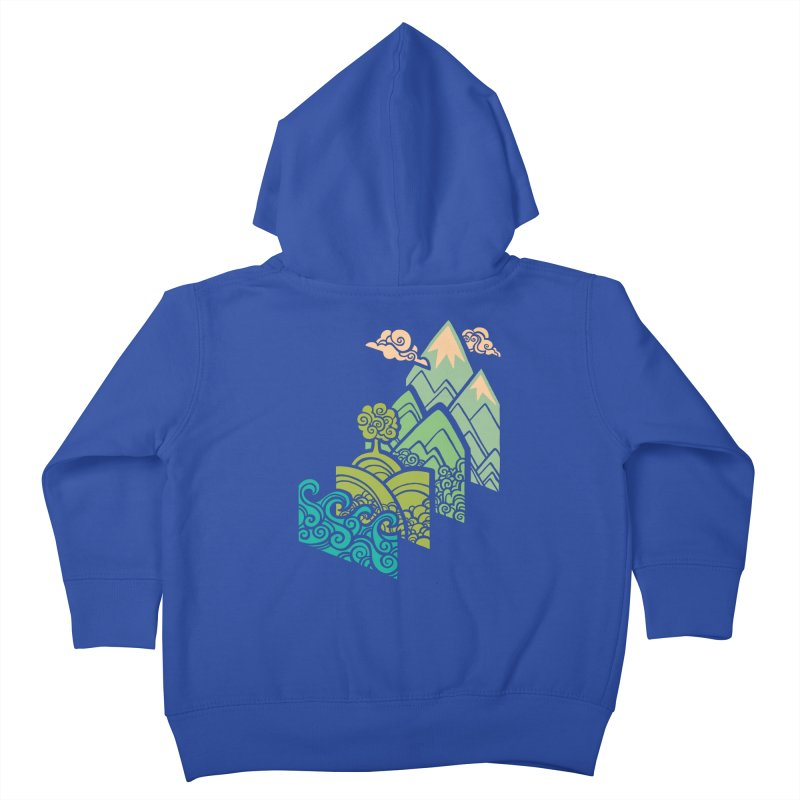 How to Build a Landscape Kids Toddler Zip-Up Hoody by Waynem