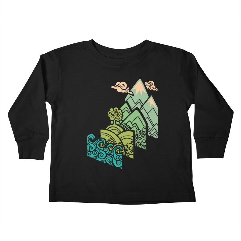 How to Build a Landscape Kids Toddler Longsleeve T-Shirt by Waynem