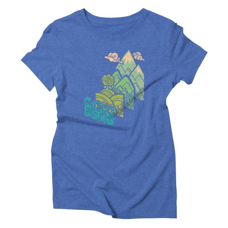 How to Build a Landscape Women's Triblend T-Shirt by Waynem