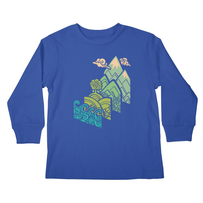 How to Build a Landscape Kids Longsleeve T-Shirt by Waynem
