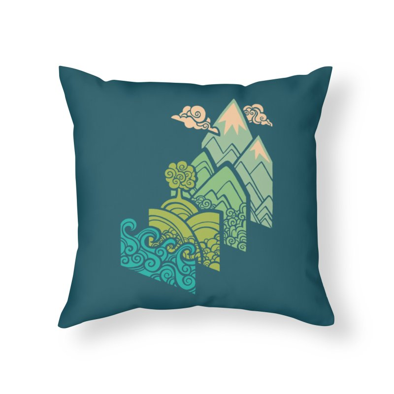 How to Build a Landscape Home Throw Pillow by Waynem