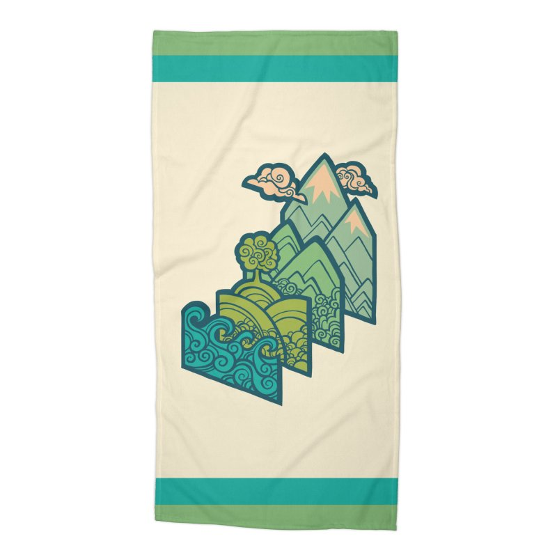How to Build a Landscape : cream Accessories Beach Towel by Waynem