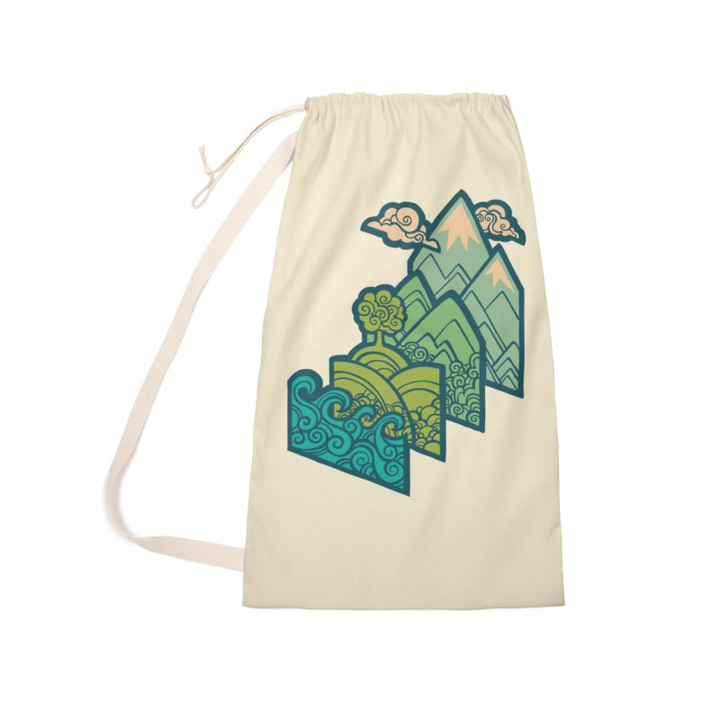 How to Build a Landscape : cream Accessories Laundry Bag Bag by Waynem