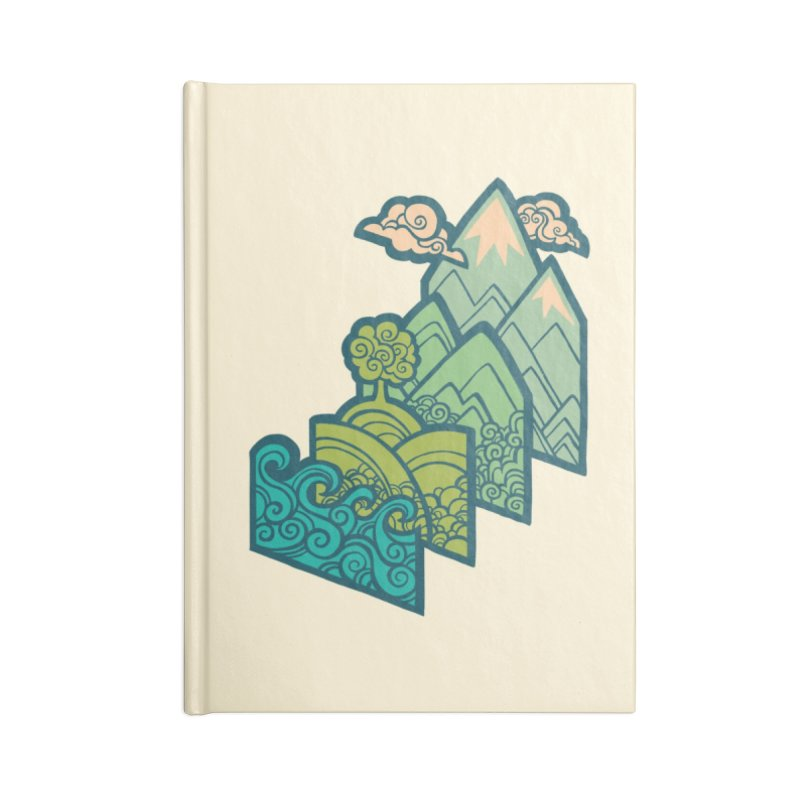 How to Build a Landscape : cream Accessories Lined Journal Notebook by Waynem