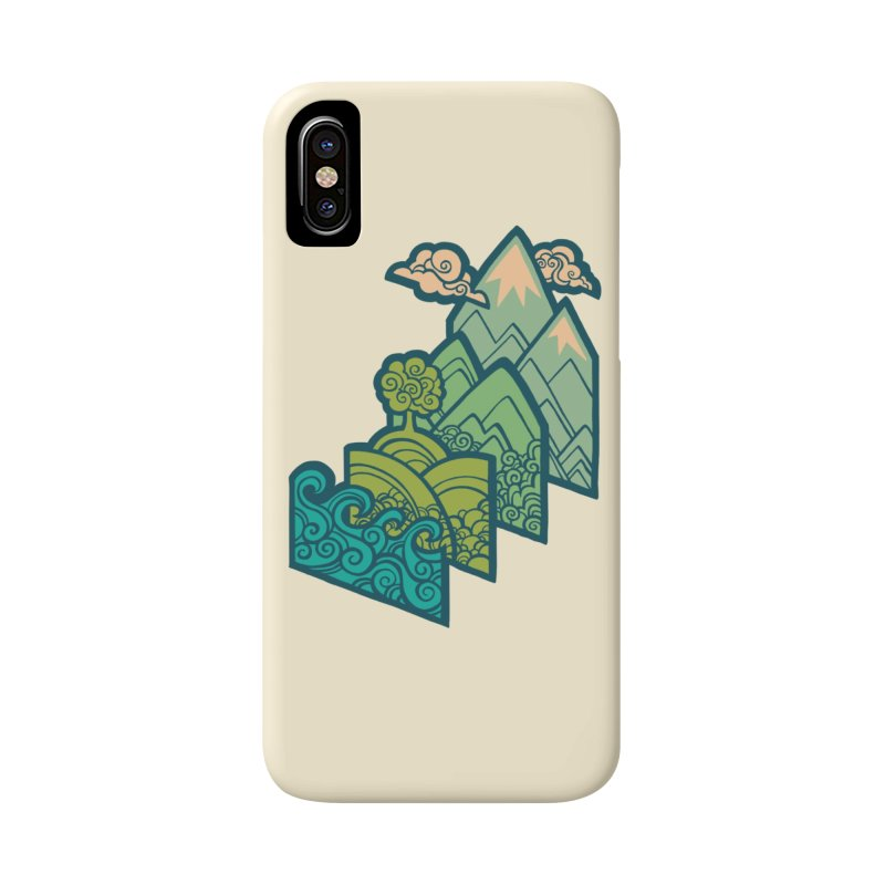 How to Build a Landscape : cream Accessories Phone Case by Waynem