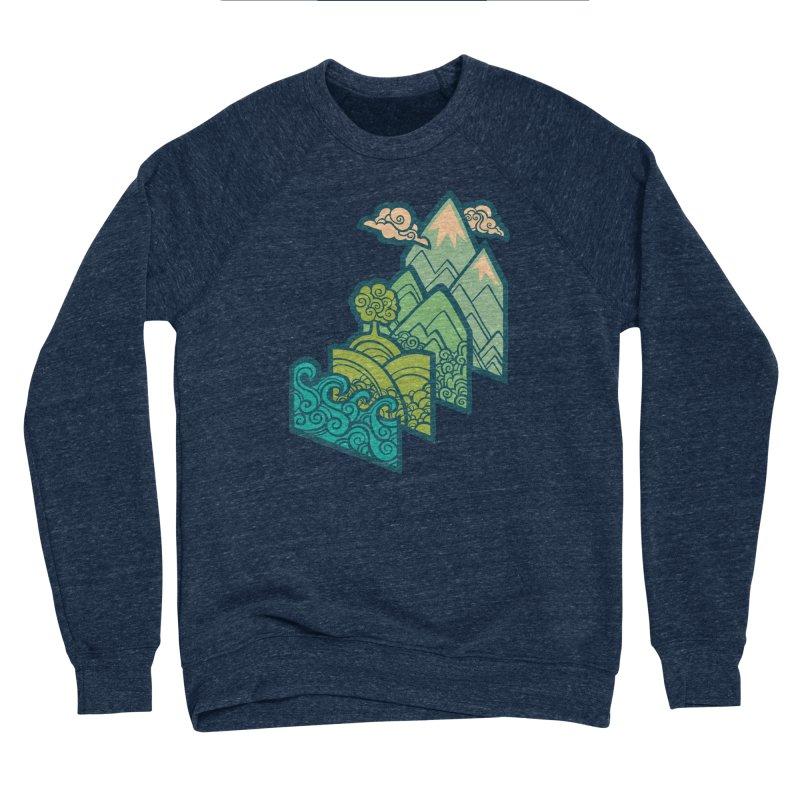 How to Build a Landscape : cream Men's Sponge Fleece Sweatshirt by Waynem