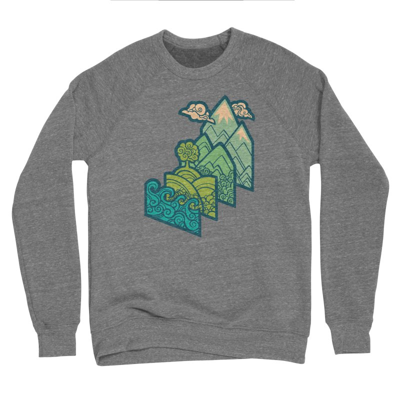 How to Build a Landscape : cream Women's Sponge Fleece Sweatshirt by Waynem