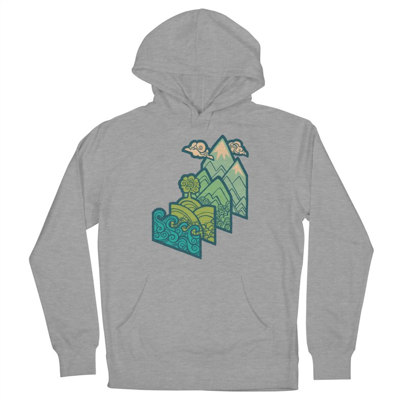 How to Build a Landscape : cream Women's French Terry Pullover Hoody by Waynem