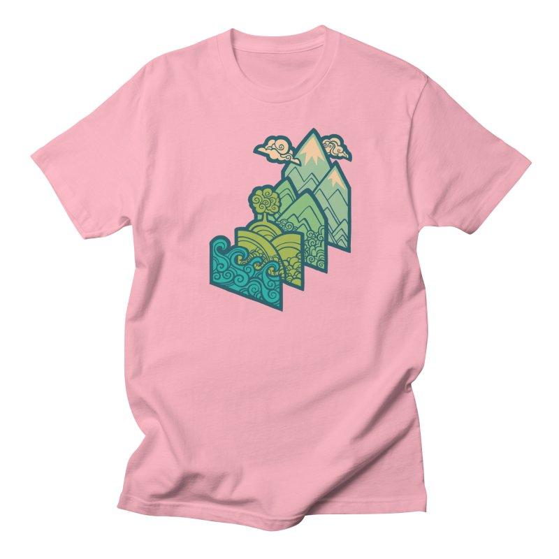 How to Build a Landscape : cream Women's Regular Unisex T-Shirt by Waynem