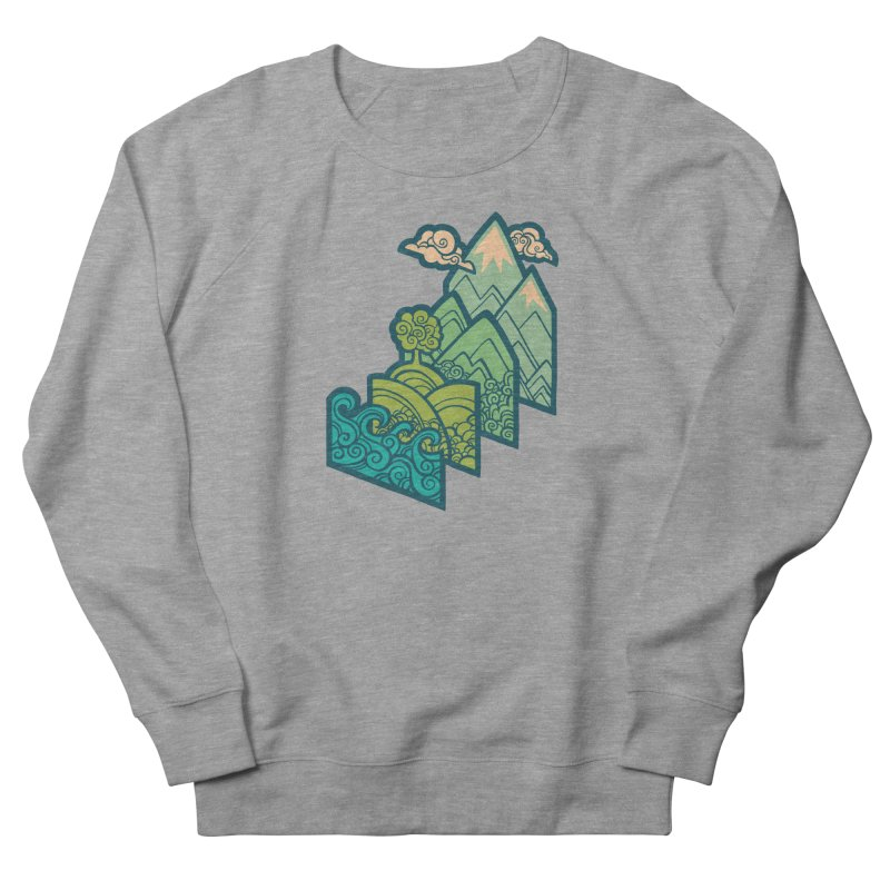 How to Build a Landscape : cream Men's French Terry Sweatshirt by Waynem