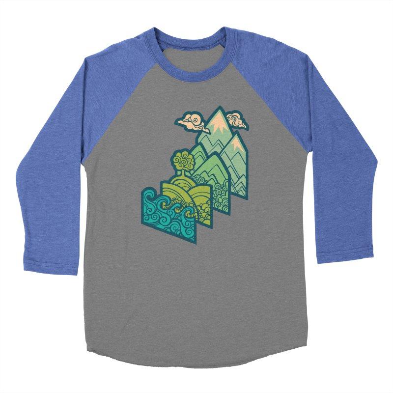 How to Build a Landscape : cream Men's Baseball Triblend Longsleeve T-Shirt by Waynem