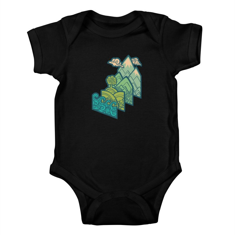 How to Build a Landscape : cream Kids Baby Bodysuit by Waynem