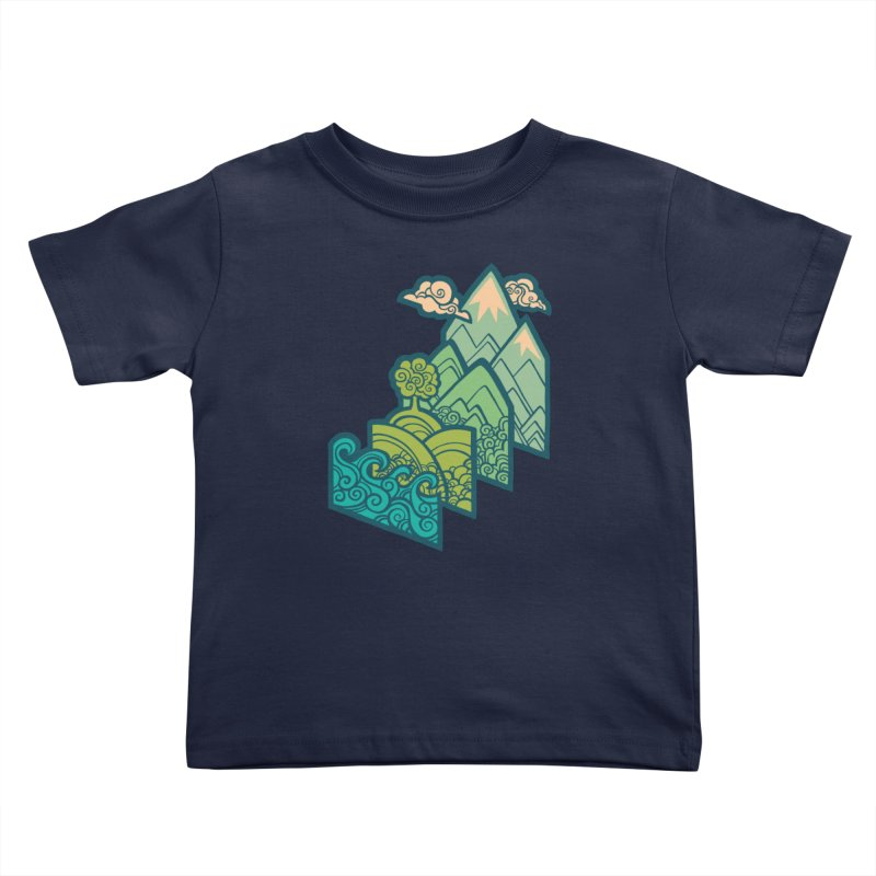 How to Build a Landscape : cream Kids Toddler T-Shirt by Waynem