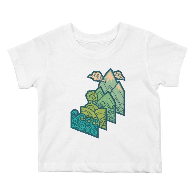 How to Build a Landscape : cream Kids Baby T-Shirt by Waynem