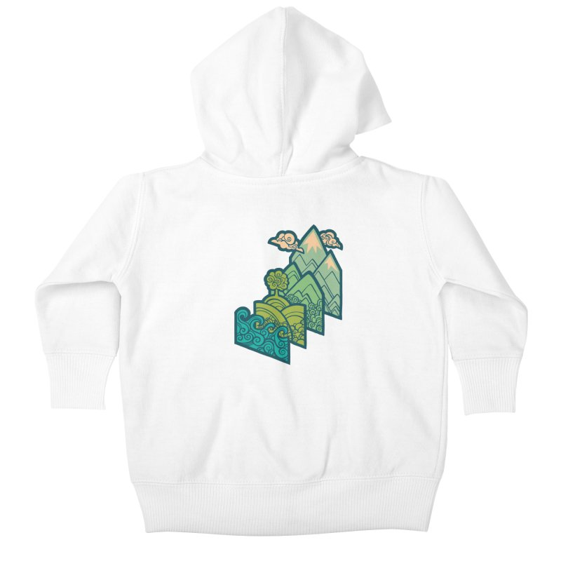 How to Build a Landscape : cream Kids Baby Zip-Up Hoody by Waynem