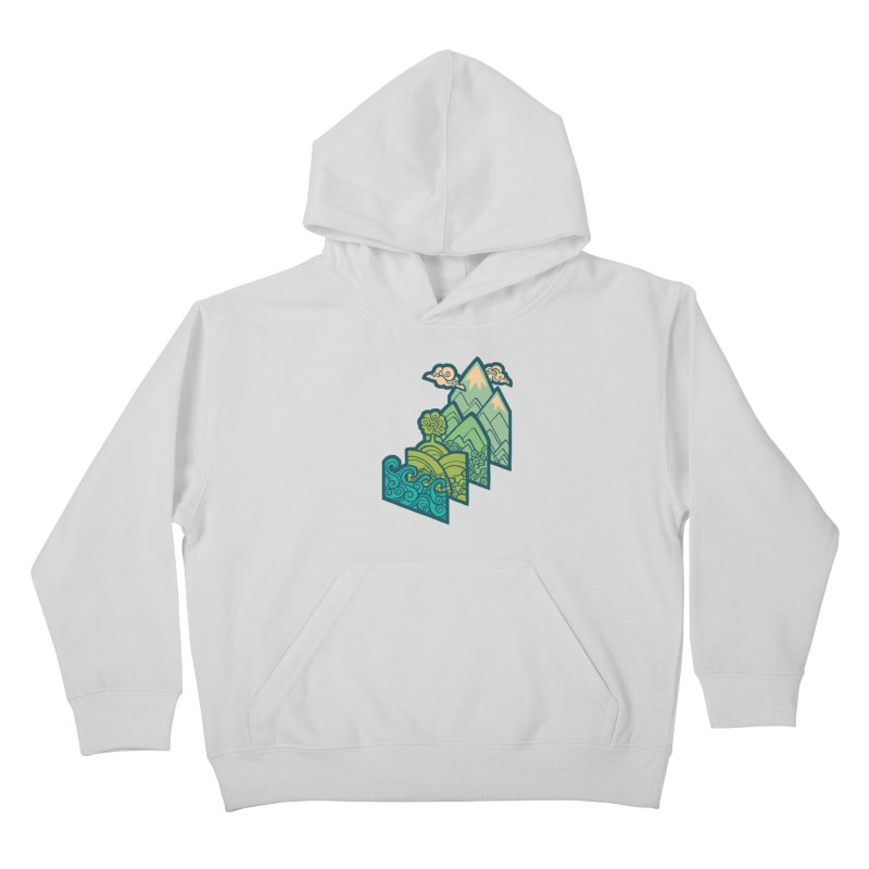 How to Build a Landscape : cream Kids Pullover Hoody by Waynem