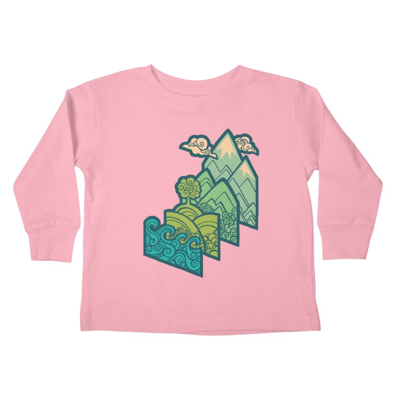 How to Build a Landscape : cream Kids Toddler Longsleeve T-Shirt by Waynem