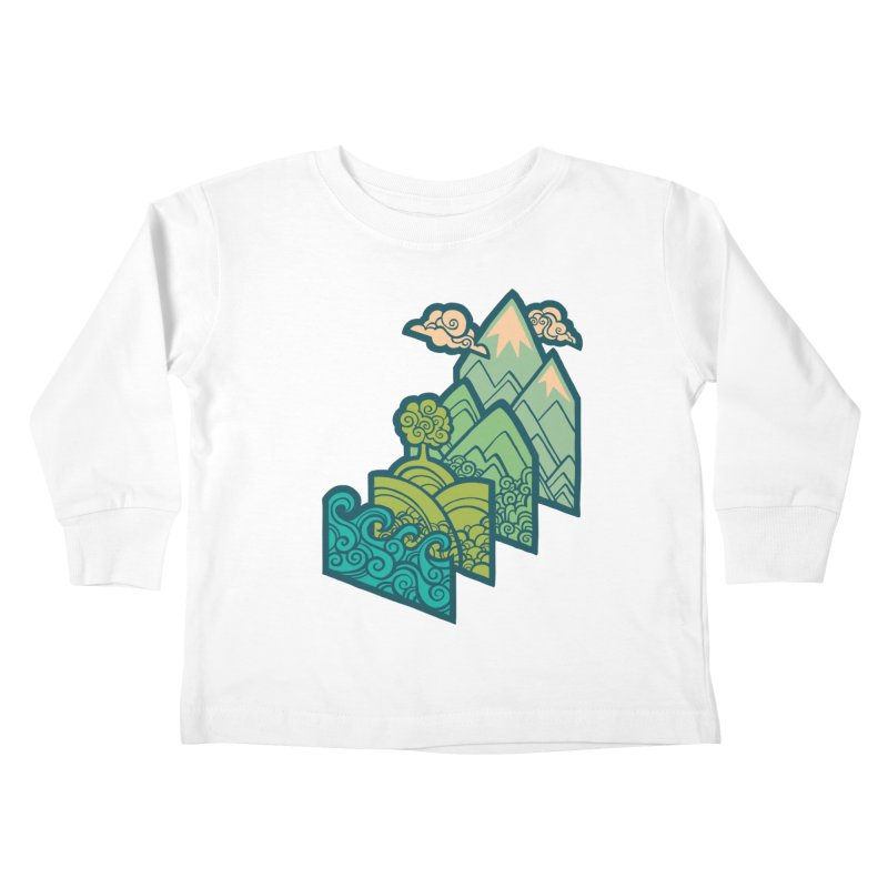 How to Build a Landscape : cream Kids Toddler Longsleeve T-Shirt by Waynem