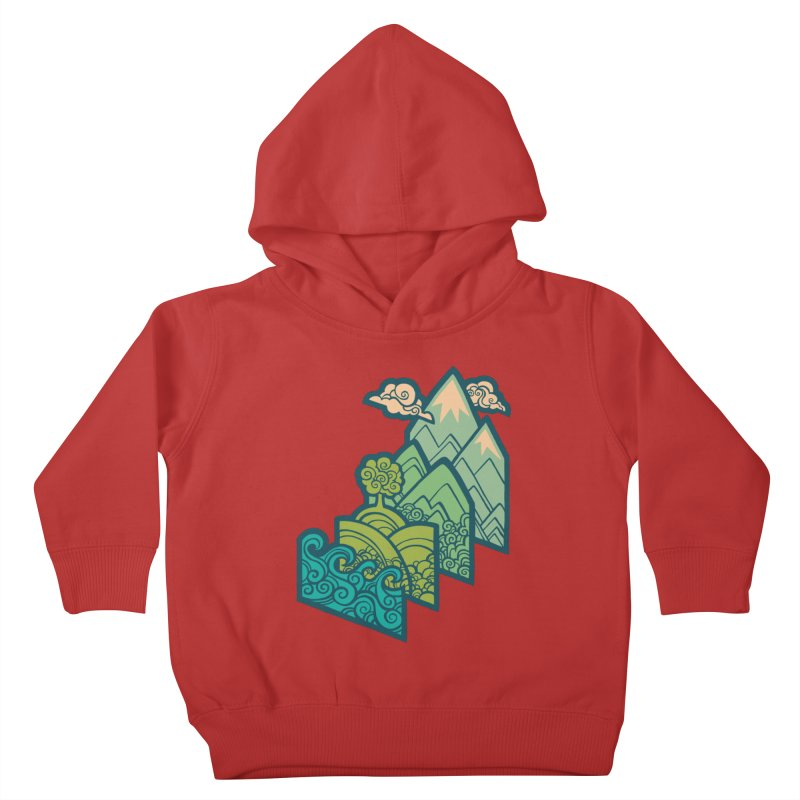 How to Build a Landscape : cream Kids Toddler Pullover Hoody by Waynem
