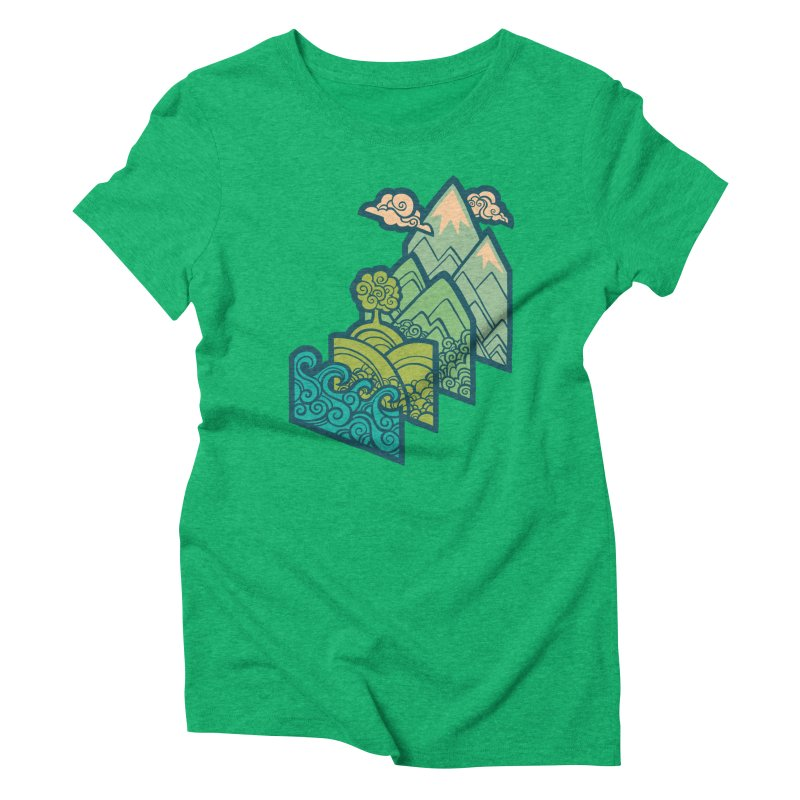 How to Build a Landscape : cream Women's Triblend T-Shirt by Waynem