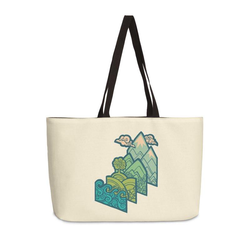 How to Build a Landscape : cream Accessories Weekender Bag Bag by Waynem