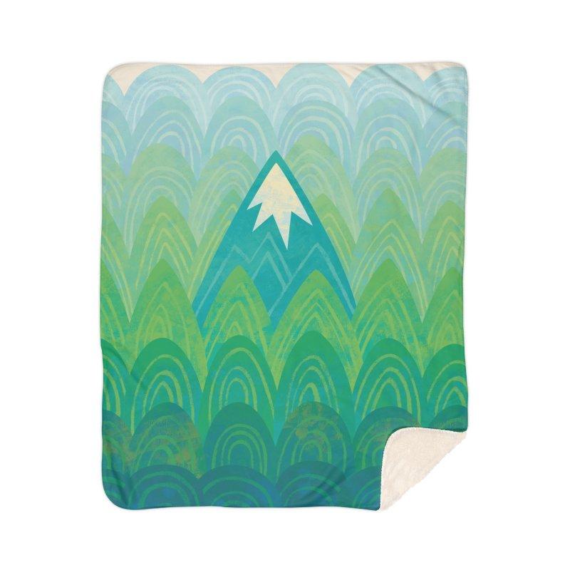 Towering Mountain Home Sherpa Blanket Blanket by Waynem