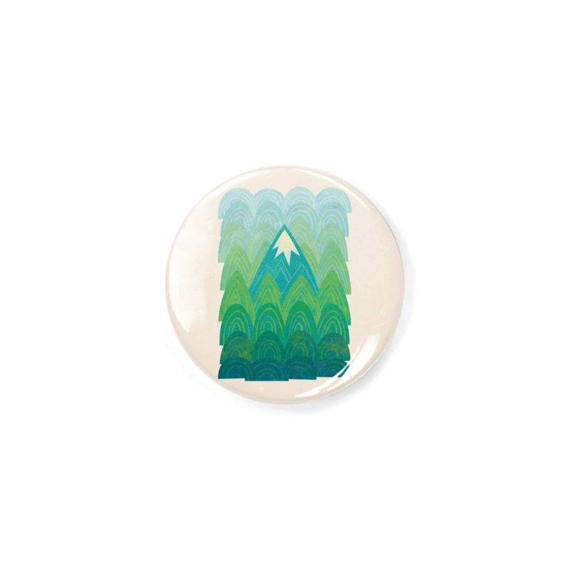 Towering Mountain Accessories Button by Waynem