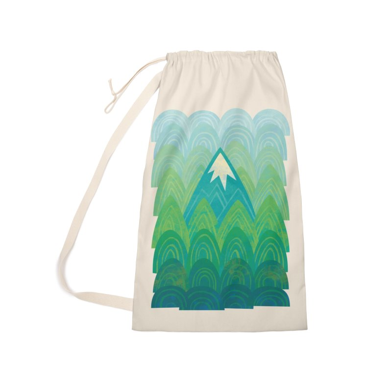 Towering Mountain Accessories Laundry Bag Bag by Waynem