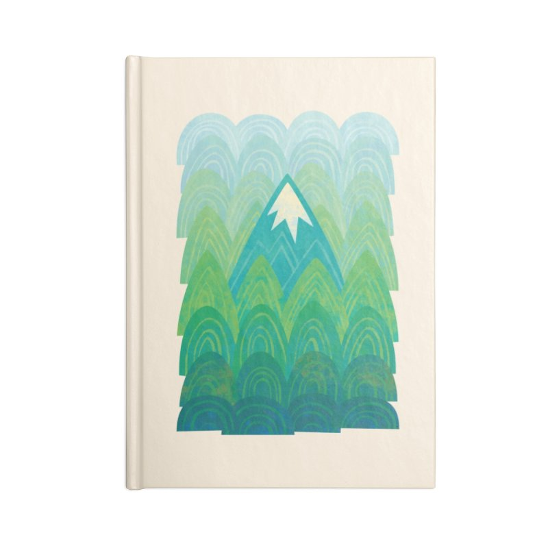 Towering Mountain Accessories Blank Journal Notebook by Waynem