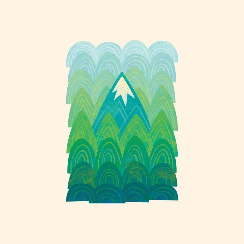 Towering Mountain Accessories Beach Towel by Waynem