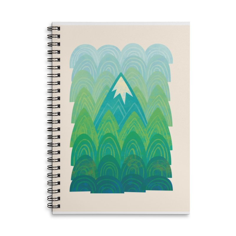 Towering Mountain Accessories Lined Spiral Notebook by Waynem