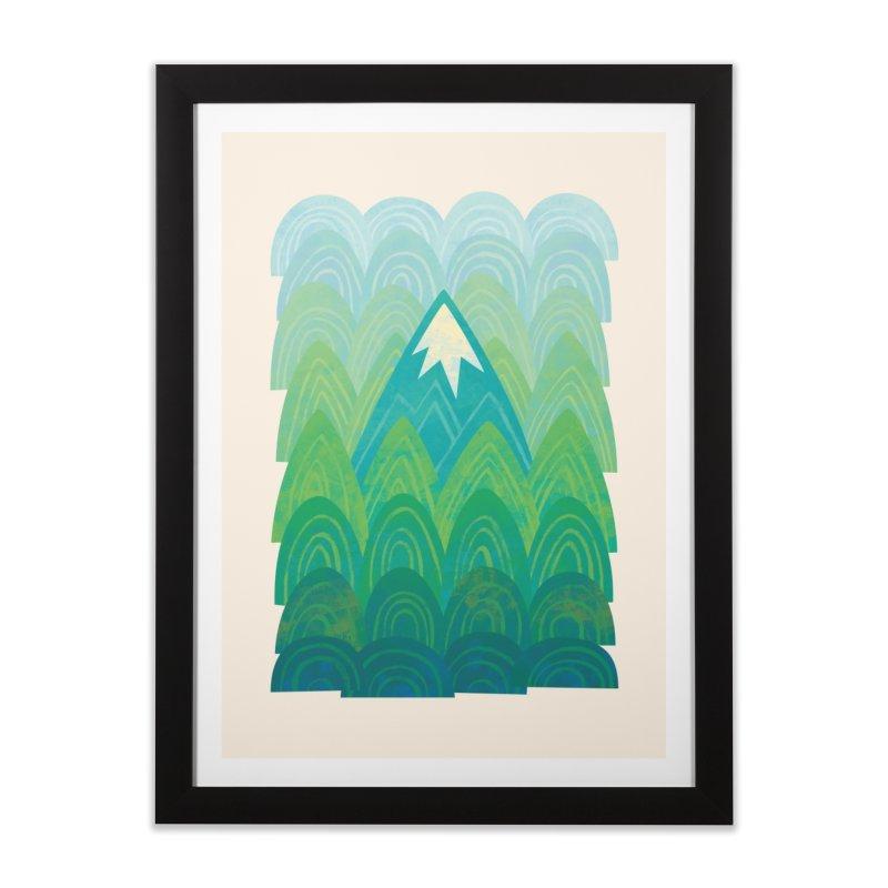 Towering Mountain Home Framed Fine Art Print by Waynem