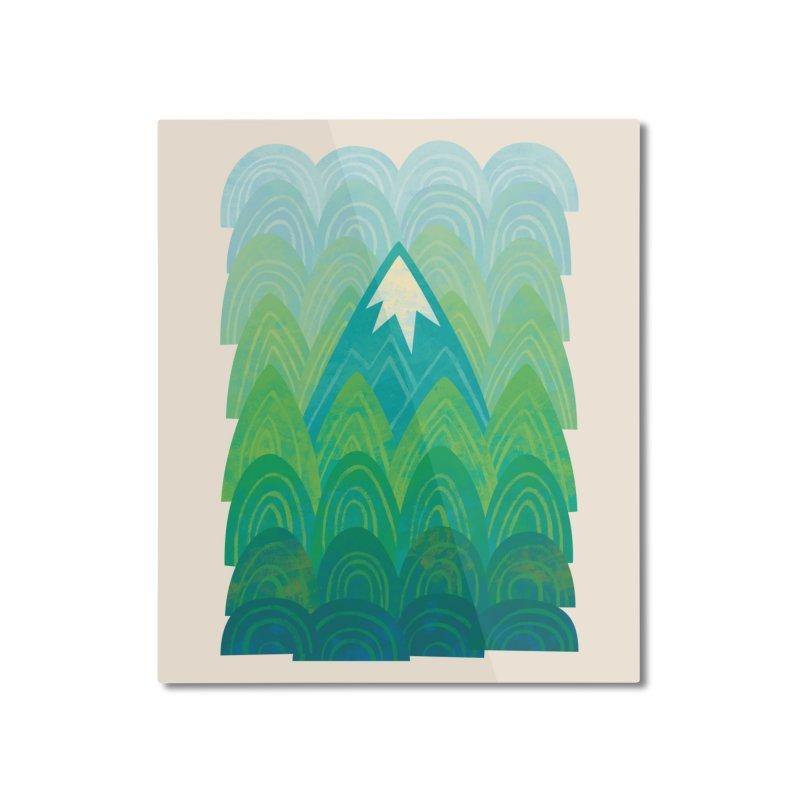 Towering Mountain Home Mounted Aluminum Print by Waynem