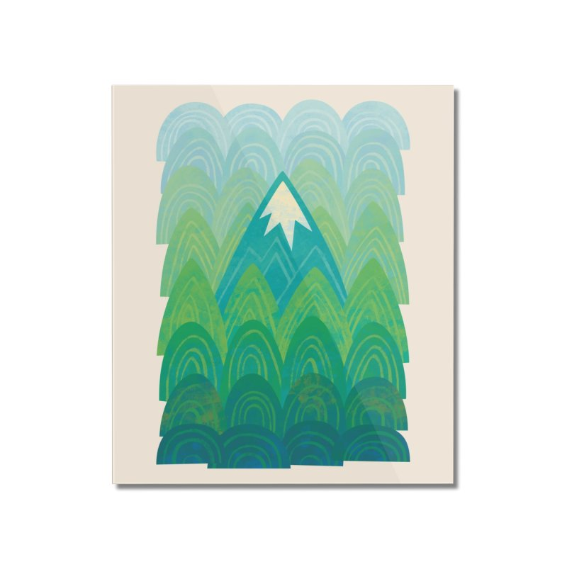 Towering Mountain Home Mounted Acrylic Print by Waynem