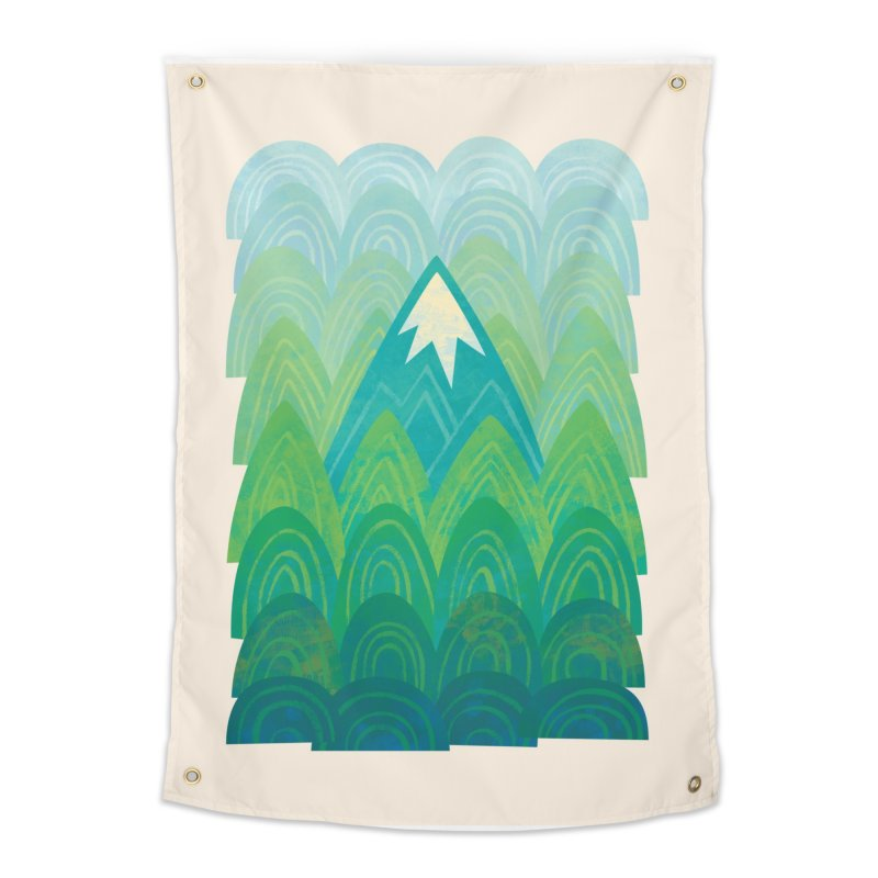 Towering Mountain Home Tapestry by Waynem