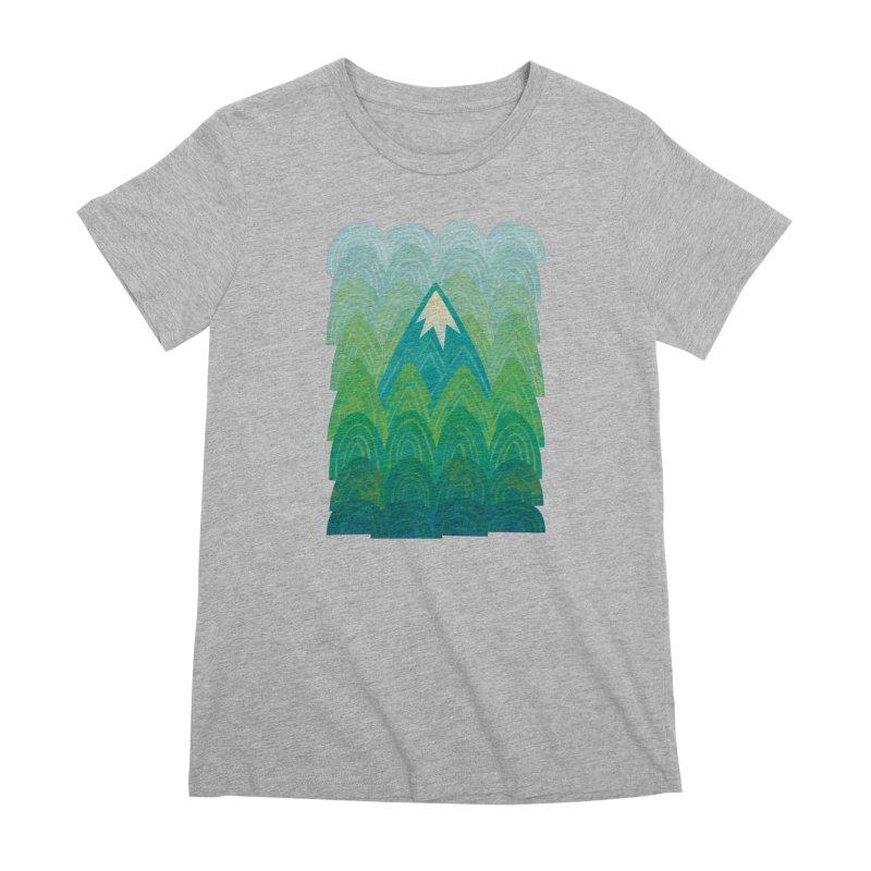 Towering Mountain Women's Premium T-Shirt by Waynem