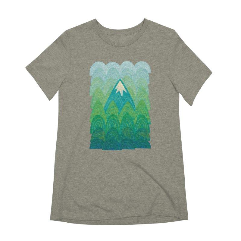 Towering Mountain Women's Extra Soft T-Shirt by Waynem