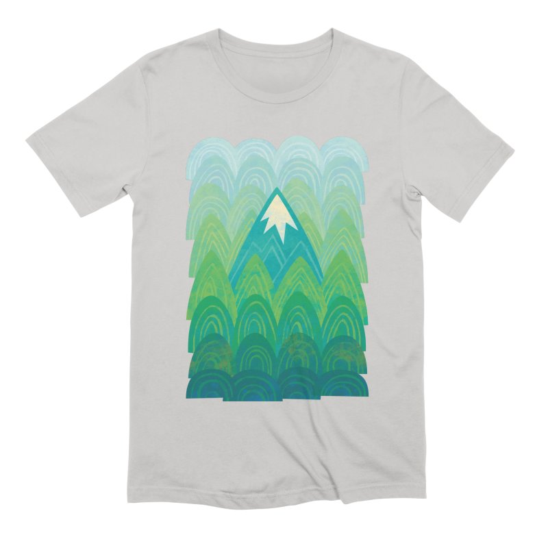 Towering Mountain Men's Extra Soft T-Shirt by Waynem