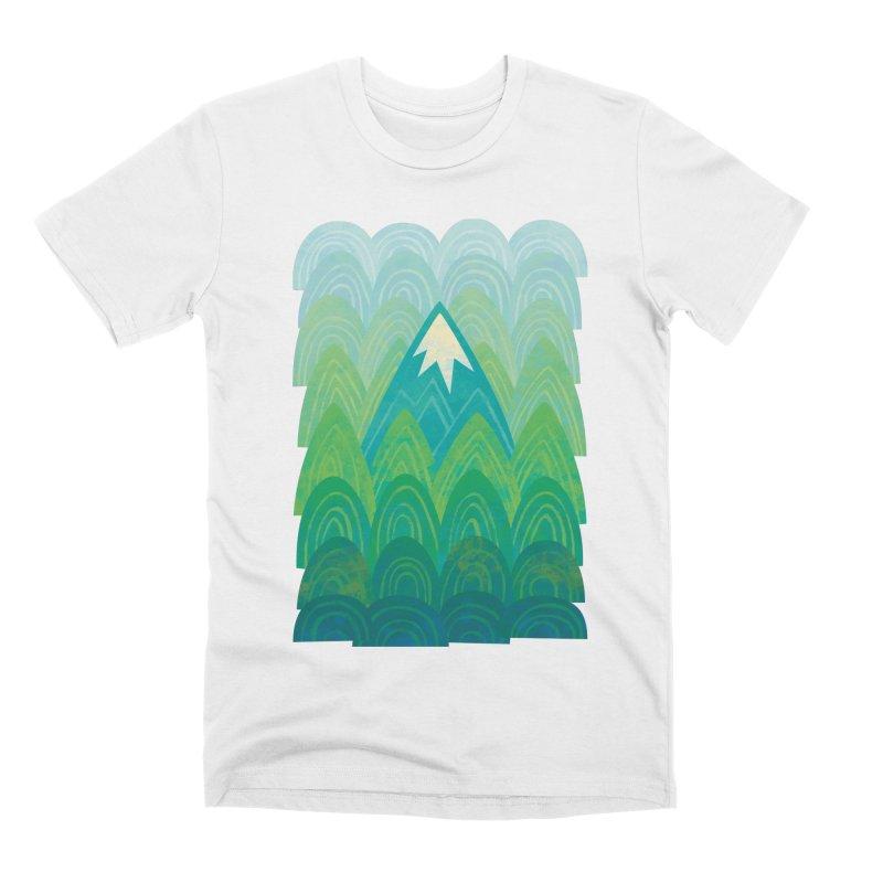 Towering Mountain Men's Premium T-Shirt by Waynem