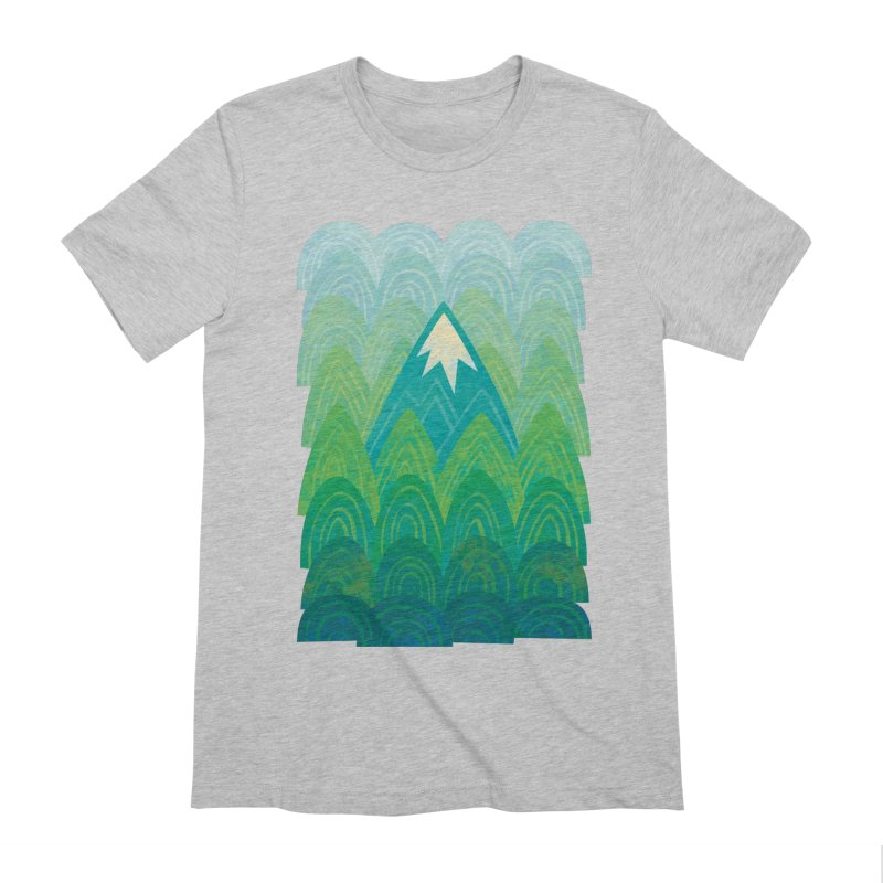 Towering Mountain Men's Extra Soft T-Shirt by Waynem