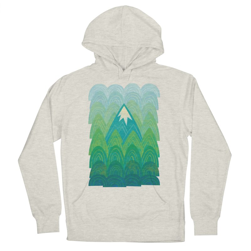 Towering Mountain Men's French Terry Pullover Hoody by Waynem