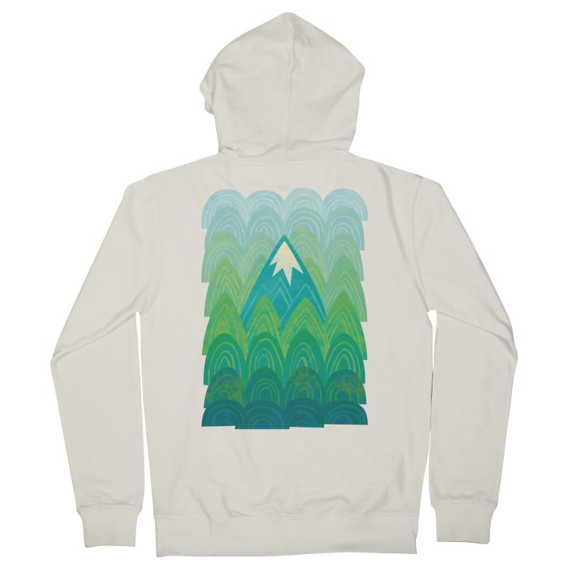 Towering Mountain Men's French Terry Zip-Up Hoody by Waynem
