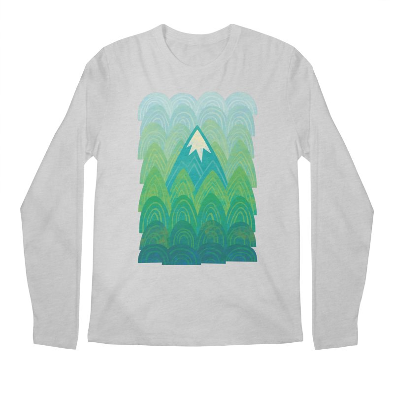 Towering Mountain Men's Regular Longsleeve T-Shirt by Waynem