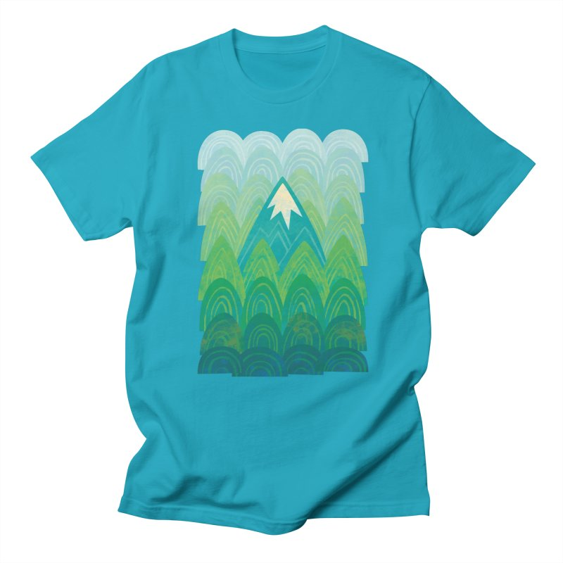 Towering Mountain Men's Regular T-Shirt by Waynem