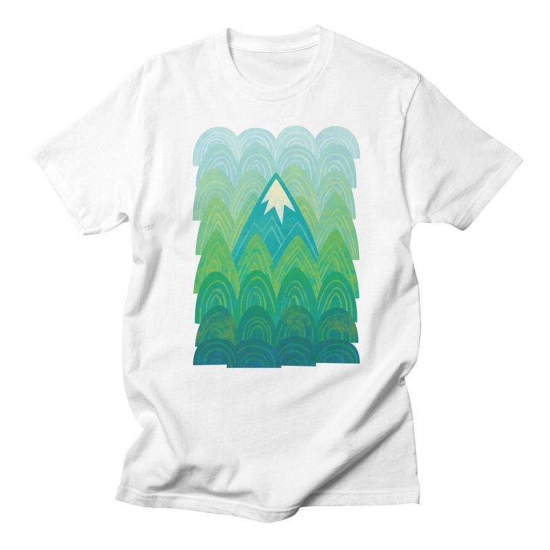 Towering Mountain Men's Regular T-Shirt by Waynem