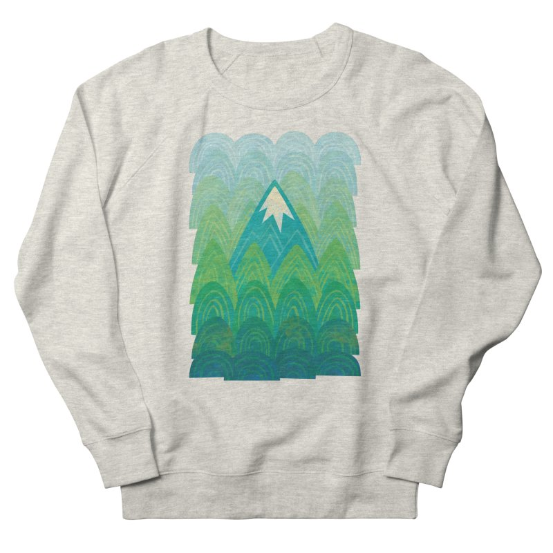 Towering Mountain Women's French Terry Sweatshirt by Waynem